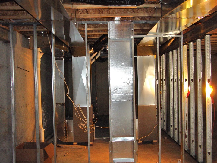 basement cold air return with 14 x 14 cold air frame