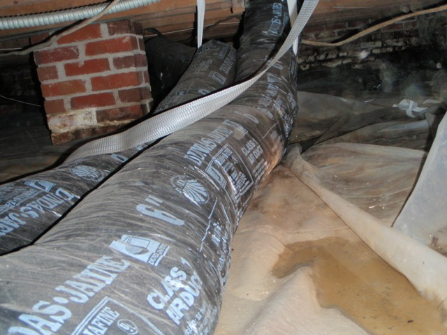 Crawl Space Duct : Ductwork in basement
