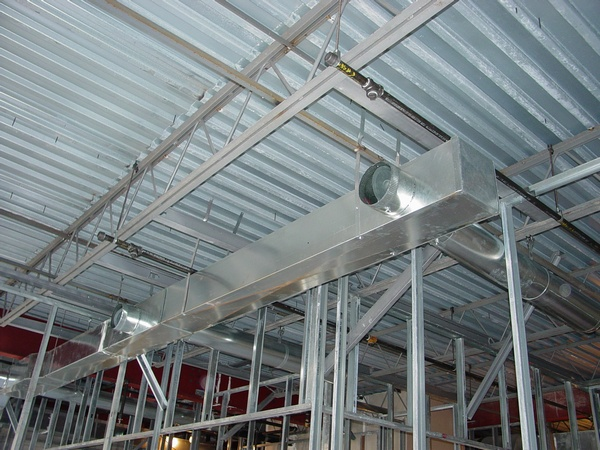 Light Commersials Ductwork Installation