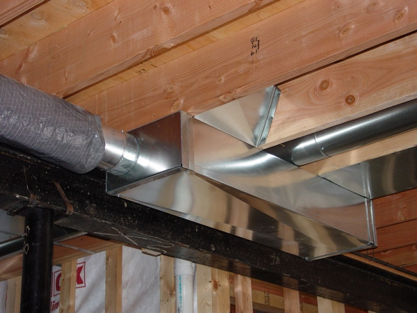 Default on mobile home furnace fresh air duct