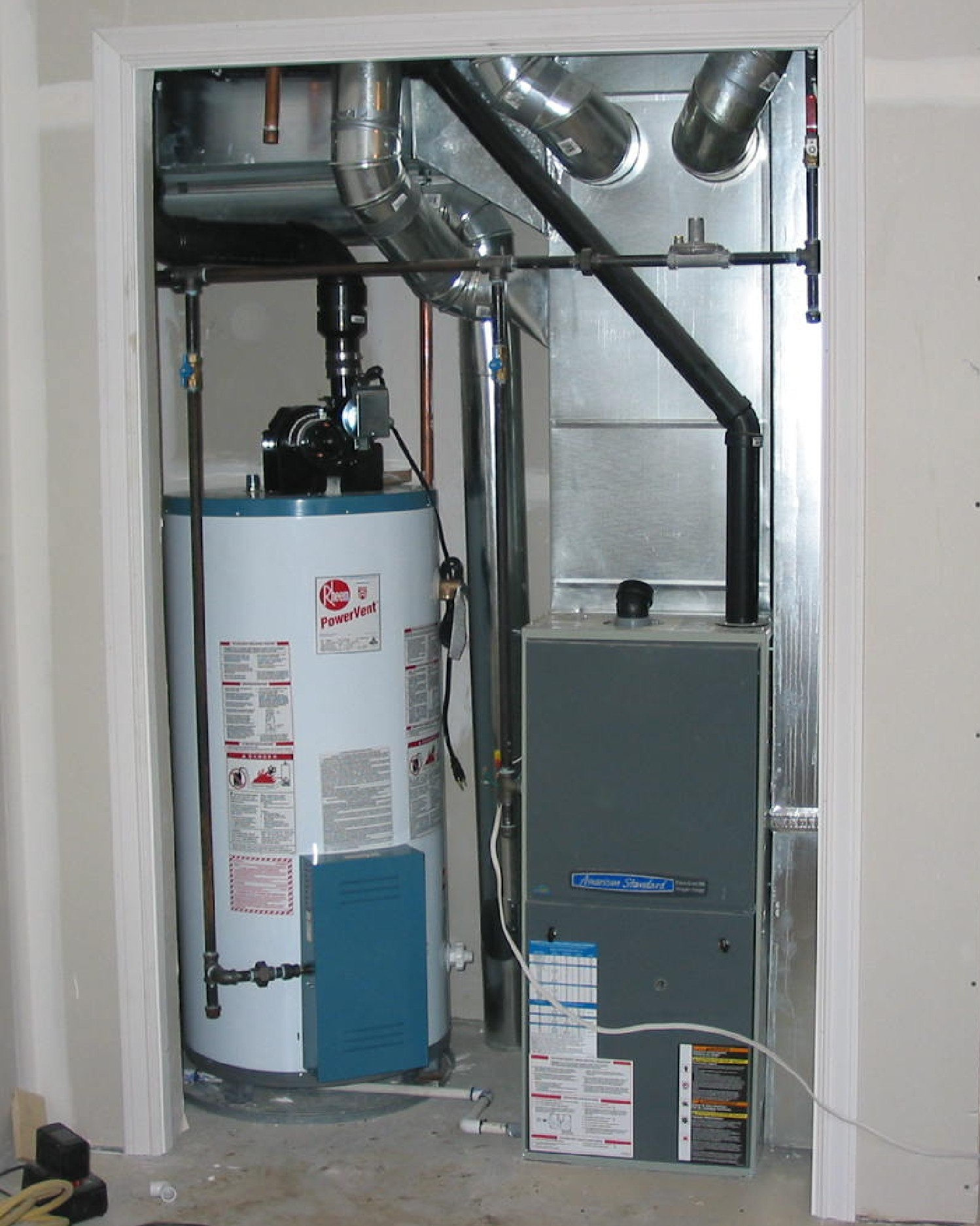 attic closet furnace ideas - Closet Furnace Installation
