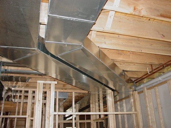 Luxury Basement Ductwork Low Profile